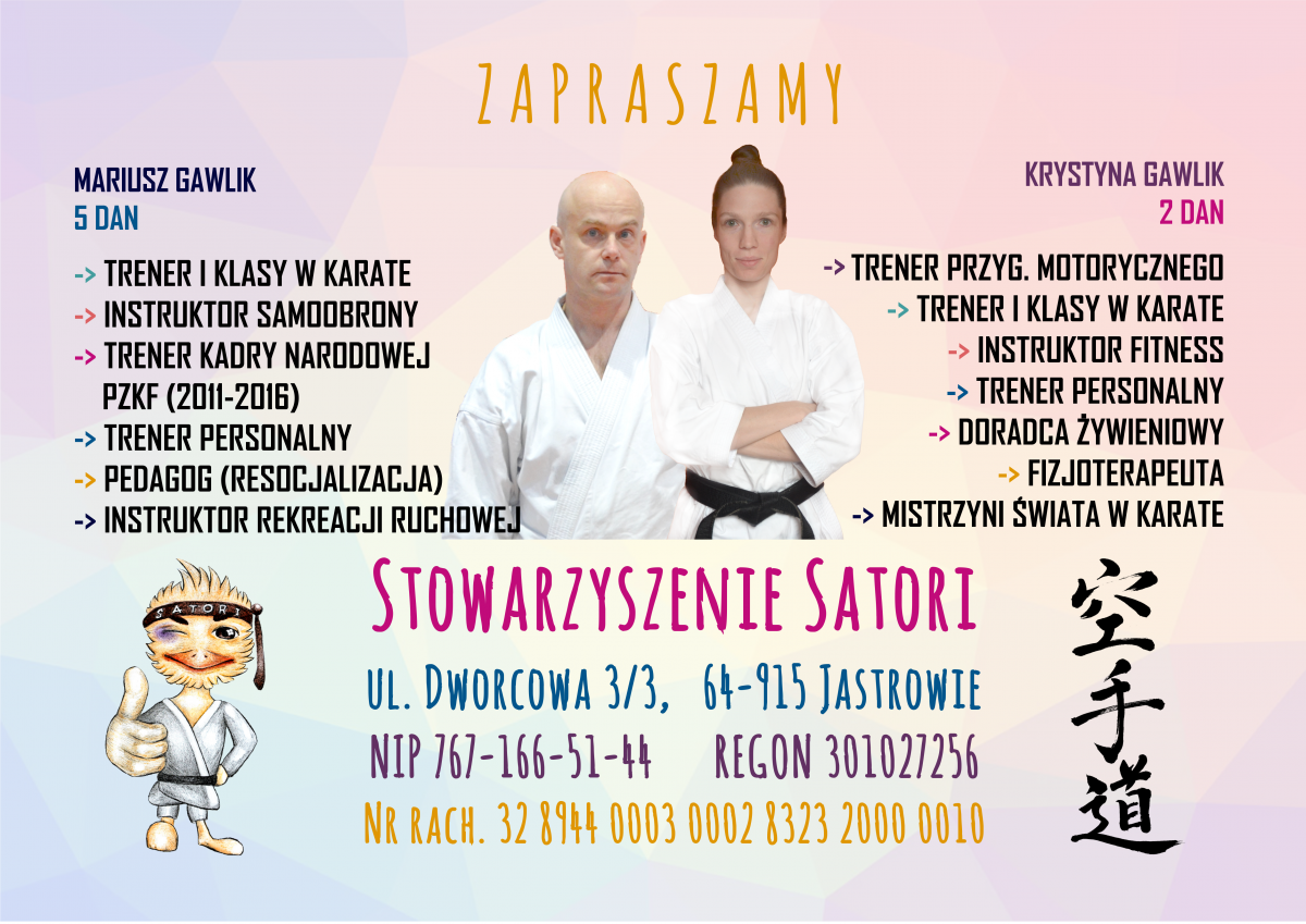 plakat informacja karate
